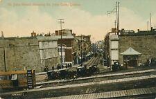 QUEBEC QC – St. John Street showing St. John Gate