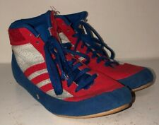 Adidas Mens Red/White/Blue Lace Wrestling Shoes Size 6