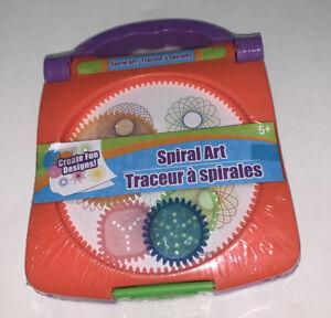 *🧡*NEW Spiral Art Craft Set Spirograph Stencil Spiral Wheels Compact Kids Toy🧡