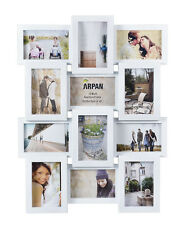 ~ Multi Aperture Photo Picture Frame - Holds 12 X 6''X4'' Photos ~  White 1014WT
