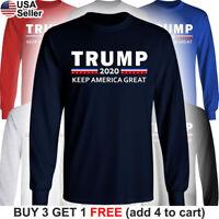 Donald Trump 2020 Long T-Shirt Keep America Great MAGA for President Make Again