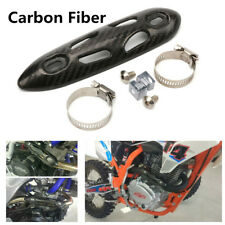 Universal Motorcycle Carbon Fiber Exhaust Muffler Pipe Heat Shield Cover Guard