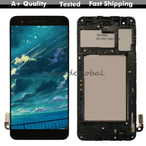For LG Rebel 4 LM- L212VL LM-L211BL LCD Touch Screen Digitizer Replace ± Frame