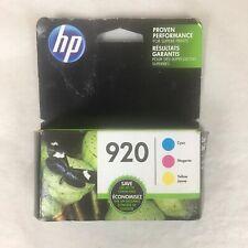 HP 920 (N9H55FN) Cyan, Magenta &Yellow Original Ink Cartridges Jan 2020 Date