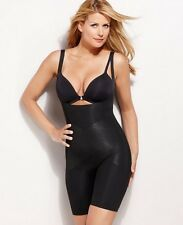 SALE! NWOT Spanx Firm Open Bust Mid-Thigh Shaper Style 2181 Black Sz Lg