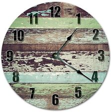 """10.5"""" Worn Out Wood Boards Clock - Cabin Clock - Large 10.5"""" Wall Clock - 4082"""