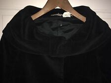 NWOT Barneys New York Black Wool Blend Vintage Style Shawl Collar Coat 36/2