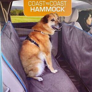 Kurgo Coast to Coast Dog Hammock Full Coverage Bench Seat Cover Heather Gray