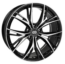 18x8 Enkei ONX 5x108 +40 Black Machined Rims Fits Focus Svt Escort