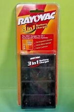 Rayovac 3 in 1 Battery Charger AA AAA Ray o Vac - Brand NEW Sealed Rare