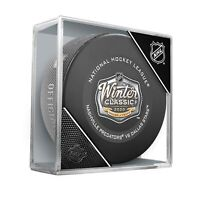 2020 Winter Classic Inglasco Official NHL Game Puck in Cube Cotton Bowl Dallas