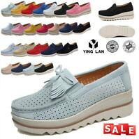 Women's Slip On Shoes Platform Breathable Round Toe Comfy Casual Loafers Shoes
