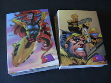 1997 MARVEL VS WILDSTORM COMIC TRADING CARD SET <> X MEN GEN13 SPIDERMAN