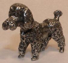 lead free pewter poodle figurine #116