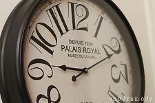 WALL CLOCK BIG 51cm Paris Print FRENCH DESIGNER Classic Time Piece Modern Decor