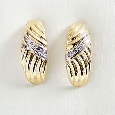 Ohrstecker Gold 333er Diamant Ohrringe 8 kt. Edelsteine Damen Ohrschmuck