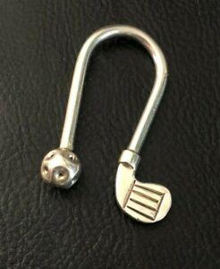 VTG Sterling Silver Key Chain Fob Holder GOLF Ball Club Mexico TM177 12g 925 780