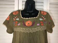 """THML """"mexican embroidery"""" Shirt Xs"""
