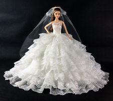 White Wedding Handmade new Original fashion dress for barbie doll party a1000