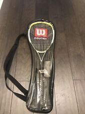 Wilson ncode nrage Pro Staff Squash Racquet with Case/balls