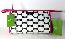 Kate Spade Medium Heddy Whitehall Vinyl Cosmetic Case WLRU2465 Cream/Black NWT
