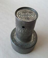 Rumford Baking Powder Donut Cutter Tin Vintage 1910 Advertising Kitchen
