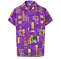 Mens Hawaiian Beer Bottle Tropical Shirts 7 colors sizes M L XL XXL 3X 4X & 5X