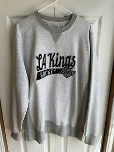 Retro CCM Los Angeles Kings Heather Gray Crewneck Sweatshirt NHL Stitched Sz XL