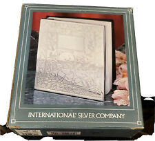 """Baby Photo Album Book International Silver Co. Holds 100 4"""" x 6"""" Pictures Nib"""