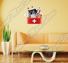 "Doctor Tool Box Medical Equipment Aid Kit Wall Sticker Interior Decor 22""X22"""