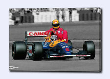 """AYRTON SENNA MANSELL 30""""x20"""" CANVAS ART PRINT POSTER PHOTO PICTURE F1 UNSIGNED"""