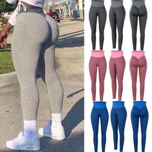 Women Workout Leggings High Waist Anti Cellulite Scrunch Butt Lifting Yoga Pants