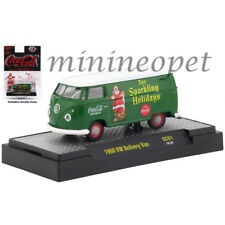 M2 SC01 COCA COLA 1960 VW DELIVERY VAN 1/64 SPARKLING HOLIDAYS CHRISTMAS GREEN