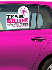 HEN PARTY PERSONALISED CAR WINDOW STICKER HEN NIGHT STICKERS CAR DECORATION