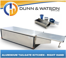 Aluminium Camper Trailer Kitchen Tailgate Mounting Right Hand Swing - Sink Kit