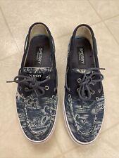 Sperry Top-Sider Blue Canvas Boat Shoes Men Sz 11M