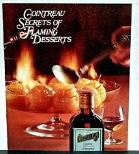 Cointreau Secrets of Flaming Desserts 1970s Recipe booklet