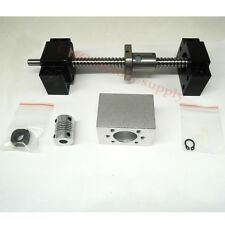 SFU1204Set lead screw ball screw antibacklash ballscrew 1204-400mm-C7+BK/BF10
