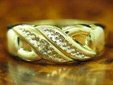 8kt 333 Gelbgold Ring mit Diamant Solitär Besatz / RG 53