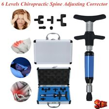 1x Pro 6 Levels Manual Chiropractic Spine Adjusting Corrector Repaceable 4 Heads
