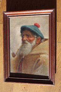 G.SAPONARI (XIXè-XXème)  Pêcheur napolitain Huile sur toile