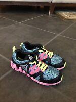 Reebok Zig Tech Kids Childs Athletic Sport Running Sneaker Casual Shoe Tie Sz 2