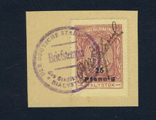 Poland 1918 Bialystok stamps 25f used with a signature R.Wolfsohn on piece