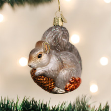 OLD WORLD CHRISTMAS HUNGRY SQUIRREL GLASS CHRISTMAS ORNAMENT 12277