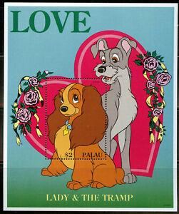 Disney Love Lady & the Tramp MNH Souvenir Sheet Palau