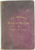 1890 cookery RECIPES BOOK Household Receipts BAKING Cooking HOME COOK Victorian