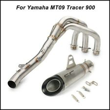 For Yamaha MT09 Tracer 900 Motor Full System Exhaust Muffler Header Front Pipe