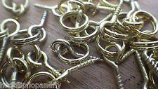20 pequeñas Electro Latonado tornillo en los ojos con anillos para imágenes de fotos de artesanía de arte