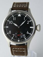 Montre pilote SAPHIR FLIEGER B-Uhr Mécanique Type Unitas 6498 Superluminova V2