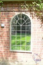 Outdoor Arch Top Stone effect Garden Mirror 4ft3 x 2ft6 130cm x 76cm